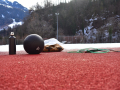 Winter workout at the track in Chur