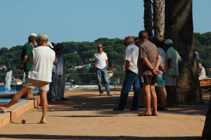 In Antibes, an afternoon game of boules.